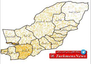 Map Golestan Nofoos TN 26